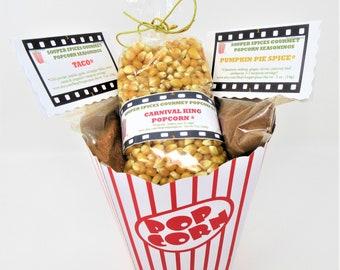 Popcorn 10 oz, Popcorn Gift Set, Popcorn Kit, Popcorn Mix, Popcorn Season, 4th of July, Gourmet Popcorn, NO Salt, NONGMO