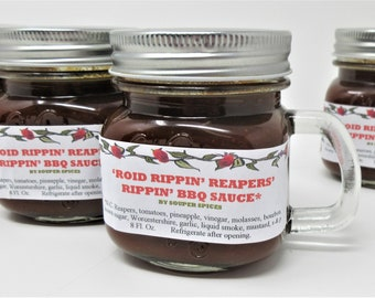 Reaper Hot Sauce, Reaper BBQ Sauce, Carolina Reaper, BBQ sauce, Bourbon BBQ Sauce, Reaper Peppers, Spicy bbq Sauce, 4th of July