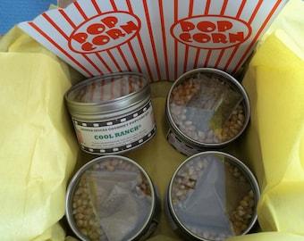 Popcorn, Popcorn Seasoning, Popcorn Mix, Popcorn Gift Set, Gourmet Popcorn, Popcorn Flavors, Gifts for Him, 4th of July Gift,  Salt Free
