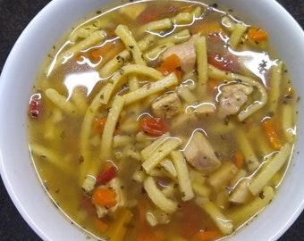 New! Chicken Noodle Soup, Chicken Noodle,  Chicken Soup Mix, Soup Mix, Soup Seasonings, Salt Free