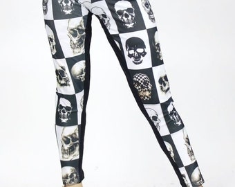 9bd92f37c3031 Black and white SKULL leggings, super comfy just in time for HALLOWEEN
