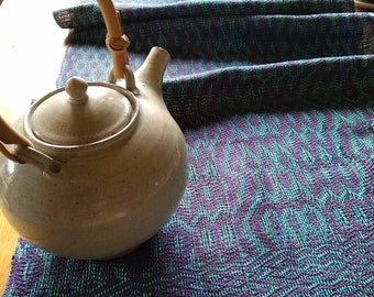 Handwoven table runner, wall hanging, panel for headboard, bed decoration