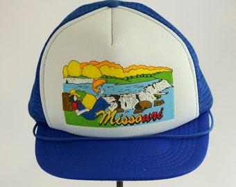 new photos 659d6 0f36b Missouri Trucker Hat Baseball Cap Snap Back Snapback Hillbilly Bass Fish  Stream
