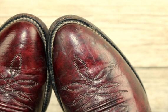taille homme vin cuir bottes D Justin Oxblood Vintage pour de Bourgogne 9 en Western Cowboy x4qq1zn