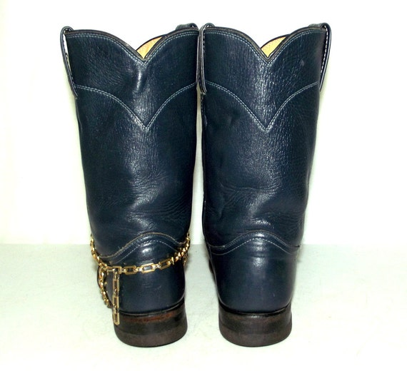 Justin B size Blue brand womens wedding 6 country cowgirl Cowboy Boots qttYX