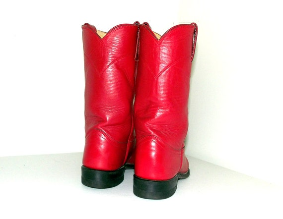 brand 4 Rockin 5 Roper size Red boots B style leather cowboy Justin CxtHwtqpZ