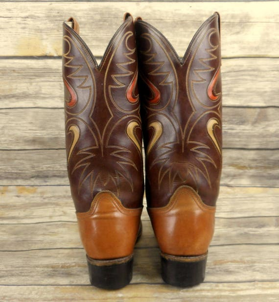 Western Vintage Size 5 Tan Boots 8 D Country Cowboy Acme Rockabilly Brown Mens qH1PXwzx