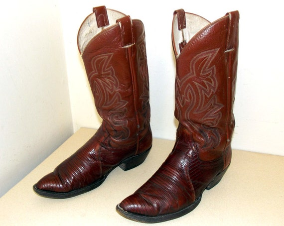 11 lizard D Cowtown Boots foot size 10 Cowboy Cowgirl or size 5 Vintage brand with UxvYBwqBO