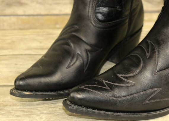 Country Boots Mens Western Cowboy Durango Leather Vintage D Size Black Steampunk 8 5 gwzqq15