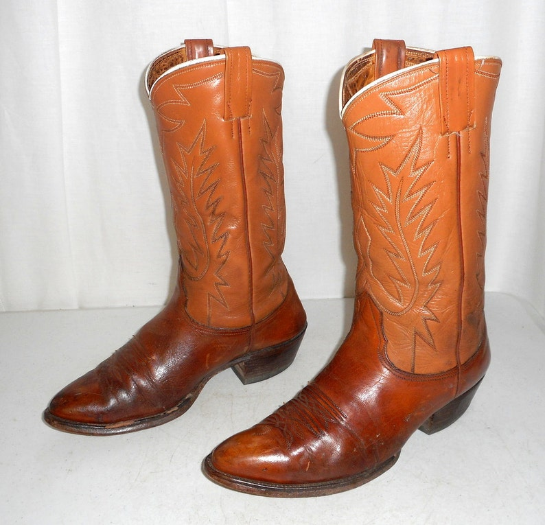 e01fc6a737b Mens Size 9.5 D Nocona Cowboy Boots Western Folk Indie Shoes Boho Womens 11