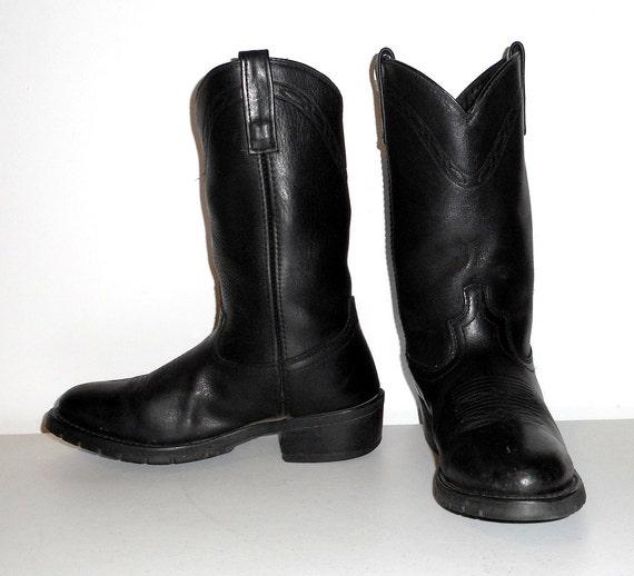 cuir largeur Mens de Santiags travail noir 9 chaussures femmes 5 EW 8 grande en Western AIIg8q