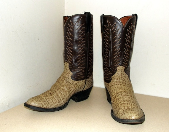 D size tone 5 Cowtown 10 cowboy brown Cowgirl size 12 or boots two fwqw8