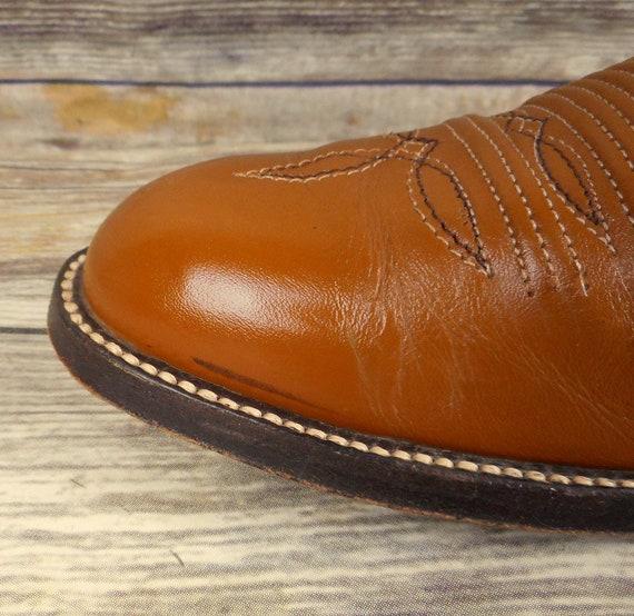 Western Vintage Santiags cuir 5 Tan homme en la Brown stock taille 9 pour D chaussures Voir HUwqZ46