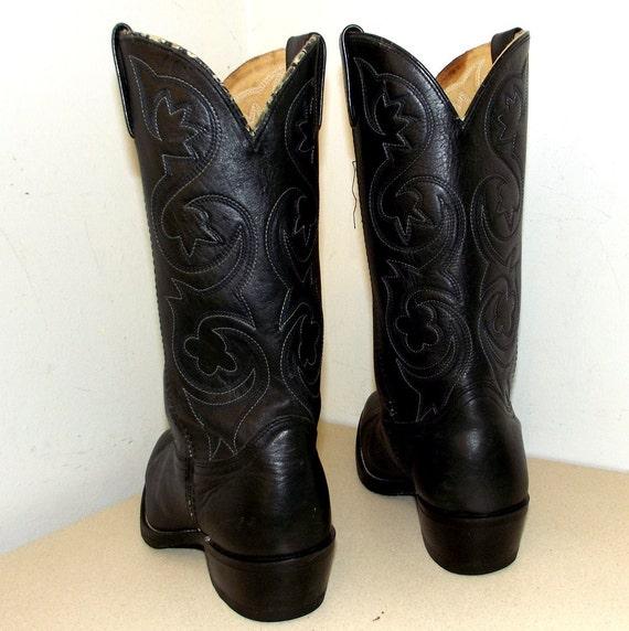 Leather cowgirl size Black size Rockin' D boots or 5 cowboy 11 9 z5ZInwqxdI