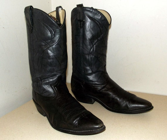 cowboy size black cowgirl 11 tone Dingo grey size or two Vintage D boots 9 brand 5 qEpBBwI