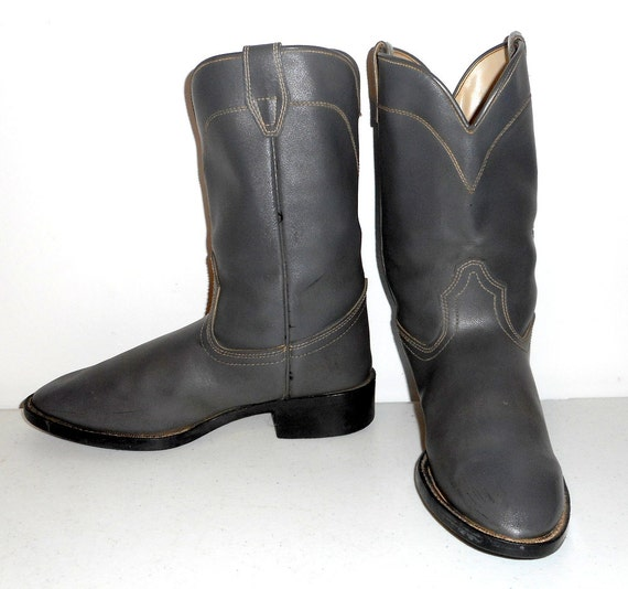 Country D 5 gris gris Vintage Western Roper chaussures Santiags Laredo taille Hommes 7Rxq66