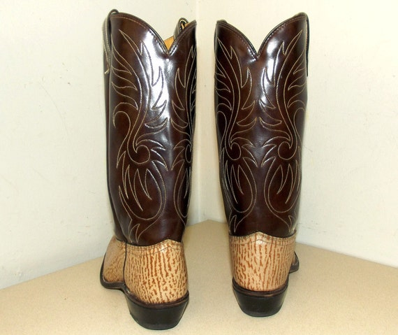boots two tone A size 6 Vintage Acme brown cowboy 5 brand UqWt8z