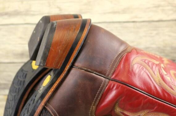 Western pour des D 5 cow 11 rouge Wear de boy cuir en marron Haut Country bottes homme taille Ranch aqnA7zxqf