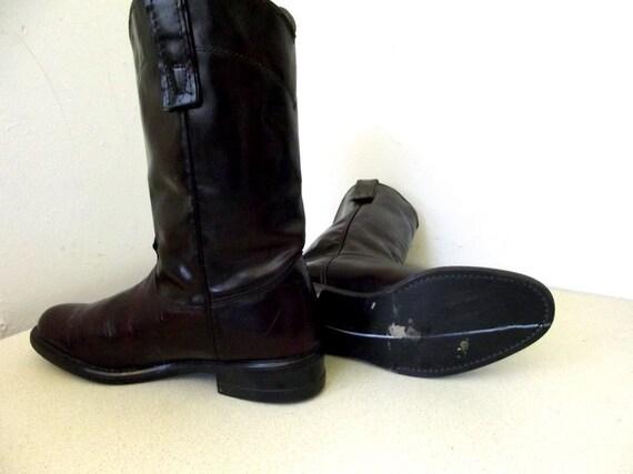 girl marque marron Bottes Texas de Vintage cuir en taille 5 fonc cow qvXSXE