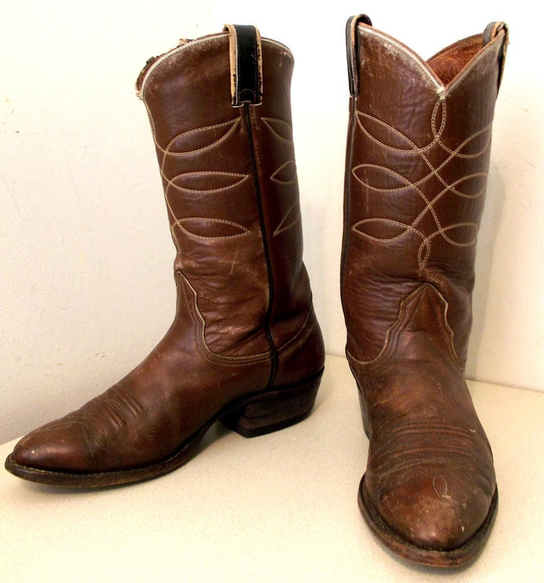 b59dda21991 Distressed Nocona cowboy boots size 9 D or cowgirl size 10.5 -- very well  broken in