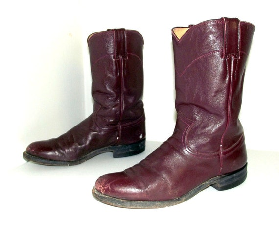 ce563a208b8 Estilo de Roper guinda vino Justin botas vaqueras tamaño 6.5 B
