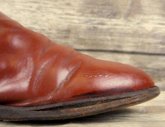 Cowboy Boots Size Ropers 5 Justin Brown 7 Distressed Leather Mens VTG D Western 4qW5d