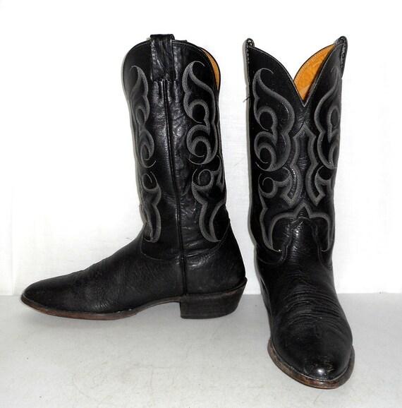 Narrow 9 Cowboy B Rockabilly Boots Mens Biker Brand Western Nocona Size 5 Black q5CSwaHFZ