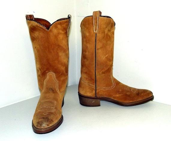 Vintage Tan Braun Suede Wolverine Cowboy Stiefel Größe or 9 D or Größe   Etsy fd0f1d