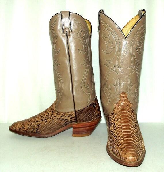 NEUF sendra Boots ceinture en serpent python cuir belt marron