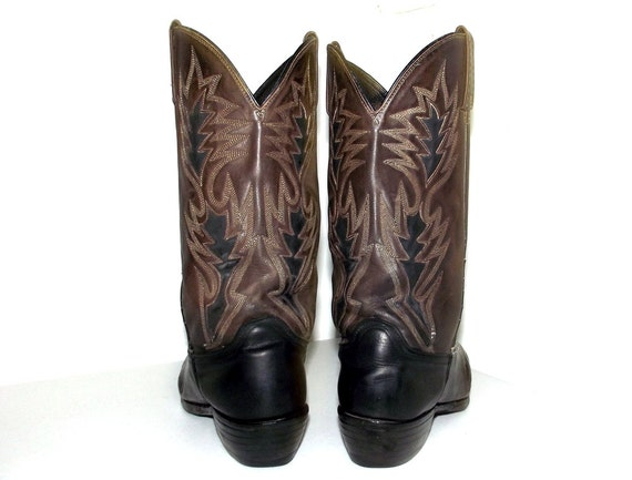 Dan 9 D Post and cowboy dark 5 cowgirl tone or size brown black boots Two 10 size wFqfXUBn