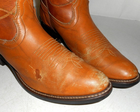 Western Tan Brown Mens Cowboy Shoes 11 Womens Boho Size D Boots 5 Rockabilly 9 Xw8wrI