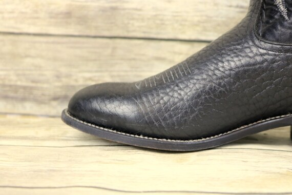 Steampunk Black Cowboy Western Size Tony D Boots Rockabilly Mens 10 Lama Leather qtcnBTPw