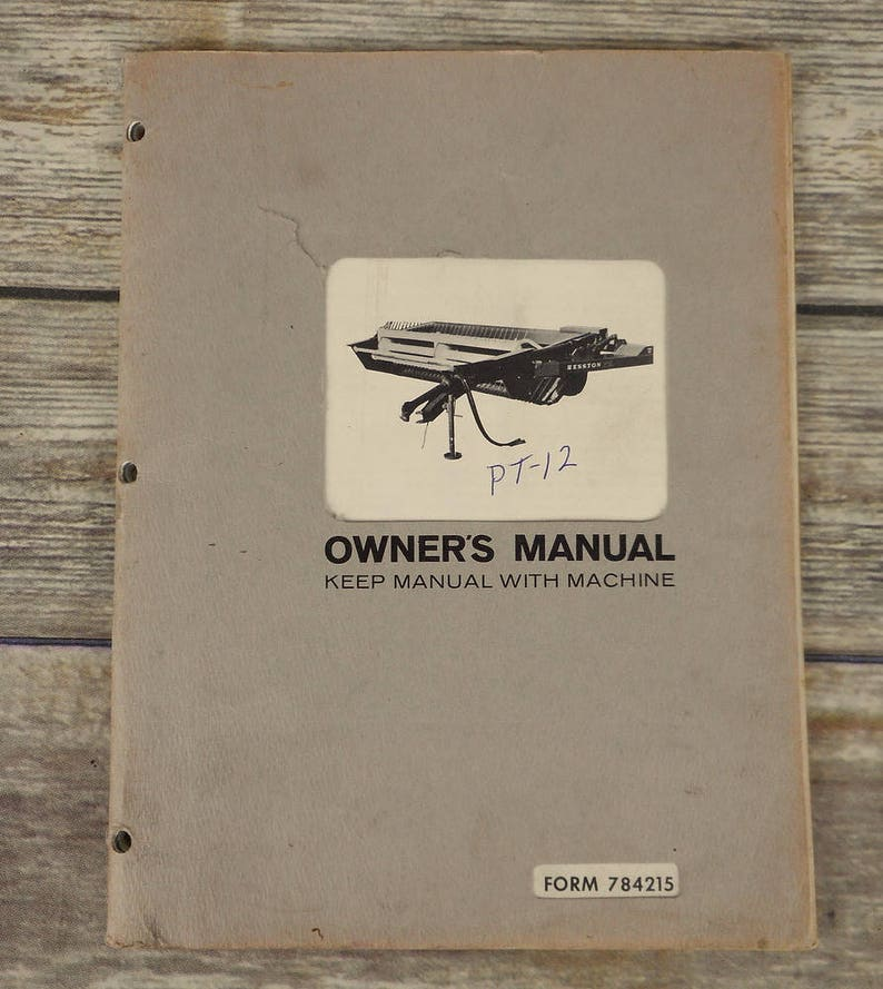1968 Hesston Windrower Conditioner PT 12 Owners Manual Book Farm Implement  Pull