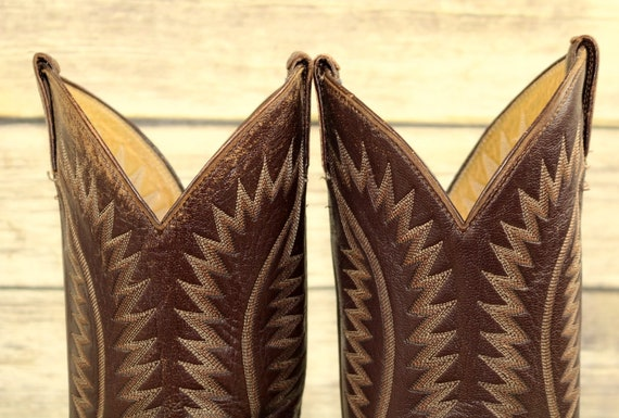 Panhandle 9 5 Reptile Cowboy D Leather Slim Boots Size Vintage Brown Mens Exotic zRrzqvw