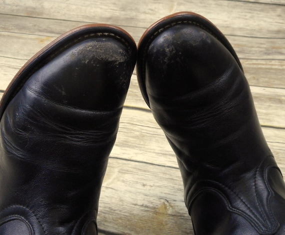 Womens M Cowboy Black Leather Size Boots Western Shoes Laredo 7 Roper Cowgirl 7wBwHq4a
