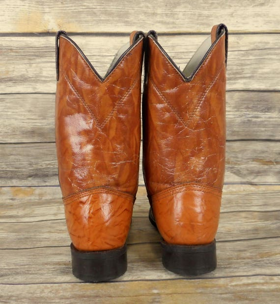 Western Mens Ropers Size Cowboy Brown Leather Durango Tan Boots D 8 Vintage PRw1xXq
