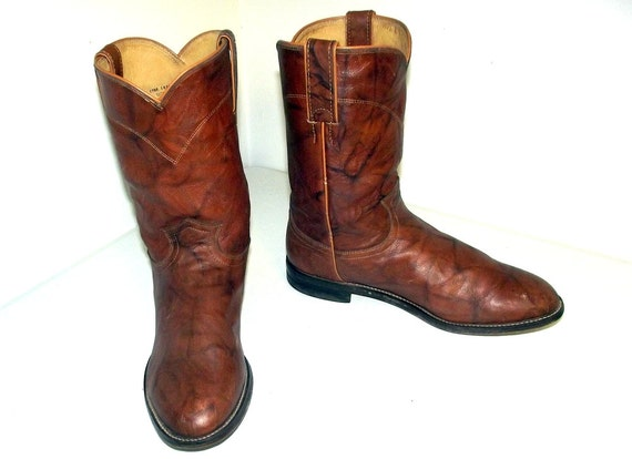 11 Justin size cowgirl brand Brown style Cowboy 9 or Roper Boots D 5 size OqHAFT