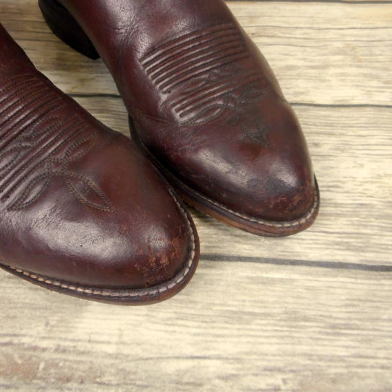 Lama 5 Western Brown Boots Leather Rockabilly Country D Size Cowboy Mens Tony 7 qHgwCS
