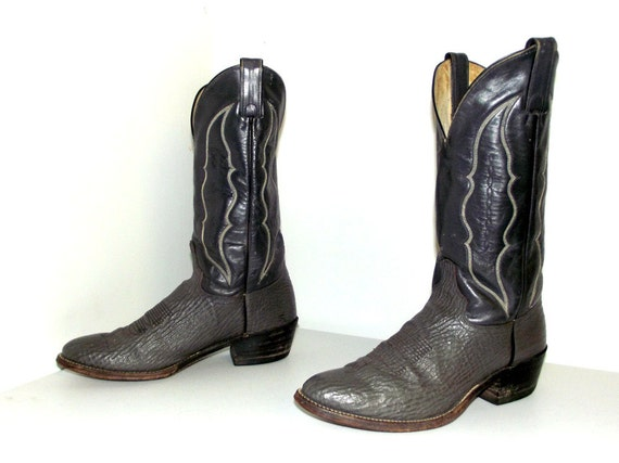 cowboy size 5 or Two boots Abilene grey tone cowgirl 10 D leather size 8 7wIawgq