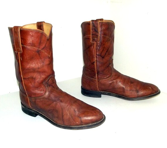 2a663f04efeb Brown Cowboy Boots Justin brand Roper style size 9.5 D or