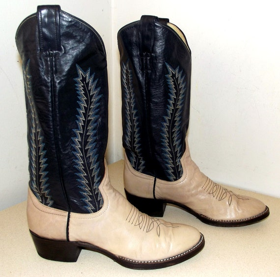 Vintage Larry and Blue Boots Tan Very Cowboy Beige light Mahan TTndrq