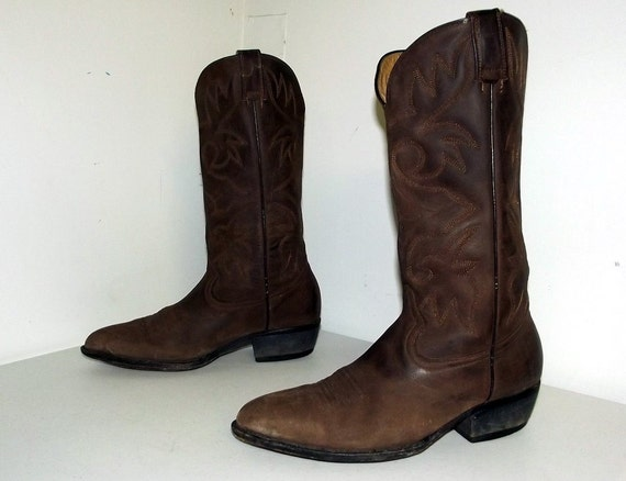 Cowboy cowgirl boots 10 Brown 5 Brown on size D size 12 or ESqgp17g