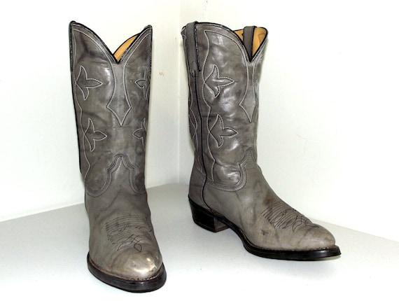 Vintage 5 Durango D Boots Cowboy size 10 size Grey Cowgirl or 12 r4aW5wqYrT