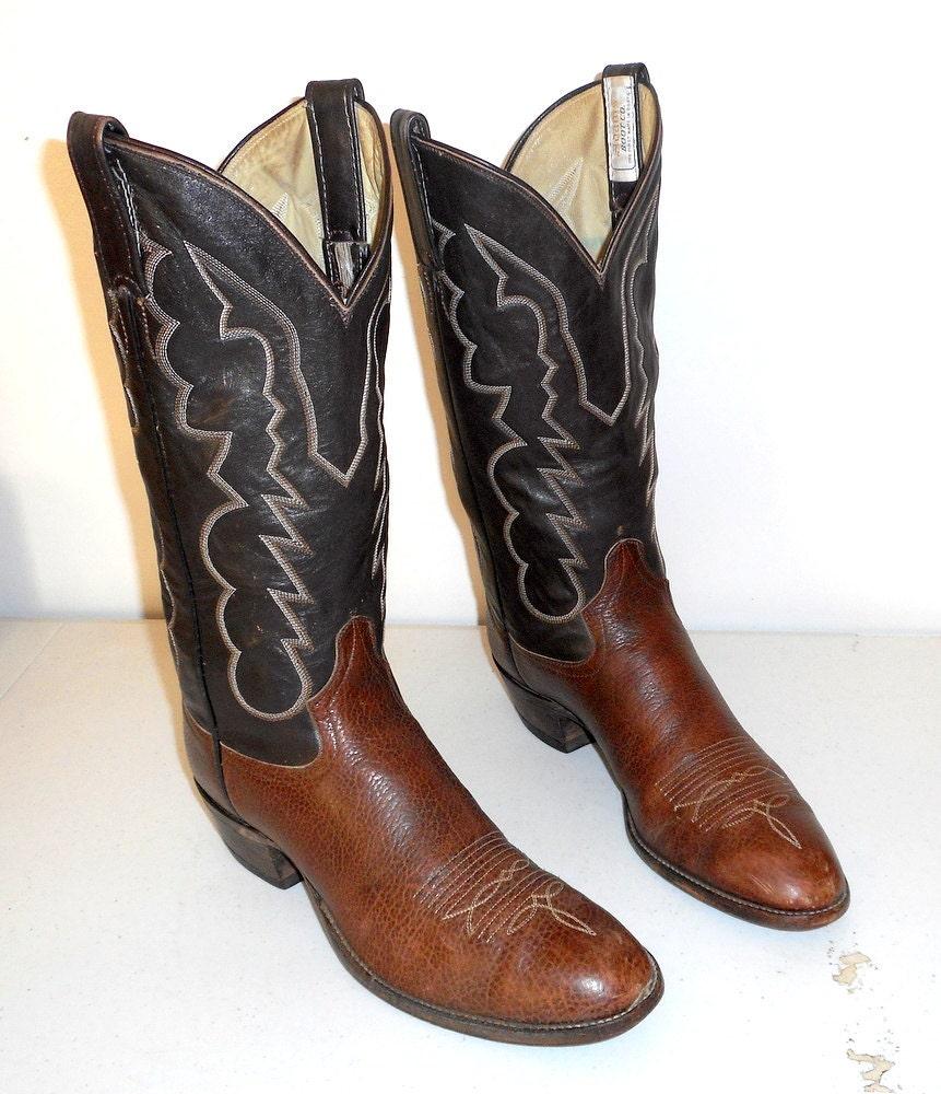 Marron , des bottes de cow - boy    b   chaussures adams boot company western rockabilly étroit 40fdd5