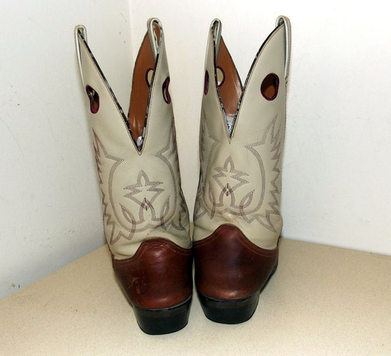 11 10 Vintage broken D size in nicely 5 size or cowgirl Cowboy Boots wqq86Ta