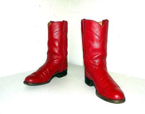 en cowboy de 5 Marque cuir B Justin 5 rouge de bottes taille CwpqtqxY1
