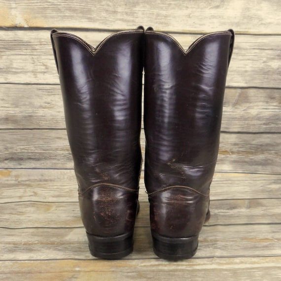 Cowboy Narrow Rockabilly Mens Leather 5 B Size Western Vintage Brown 9 Justin Boots dPqSdz