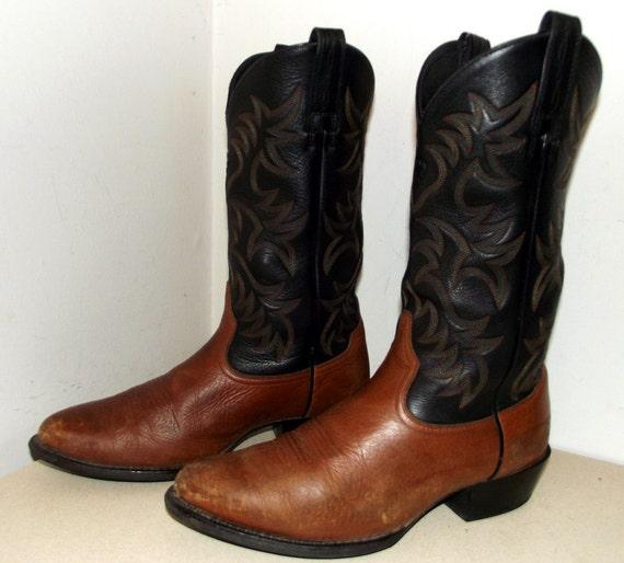 Ariat girl Taille D ou de des bottes cow marque noir boy et 11 taille 5 marron cow 10 q1Sqw4nr
