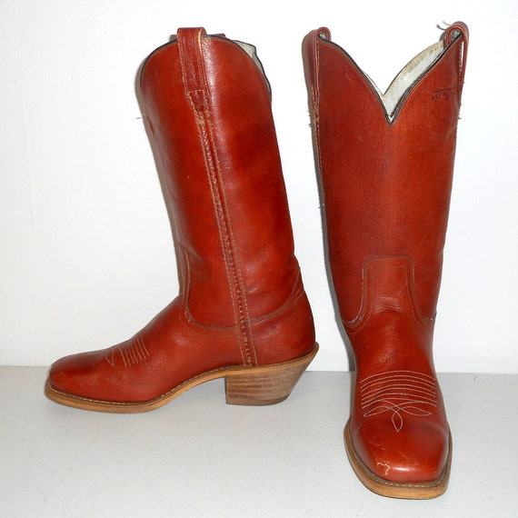 Leather 5 Cowboy Acme Mens Rockabilly Classic Womens D Country Dingo Brown 10 Boots 8 Xg5q5wR8