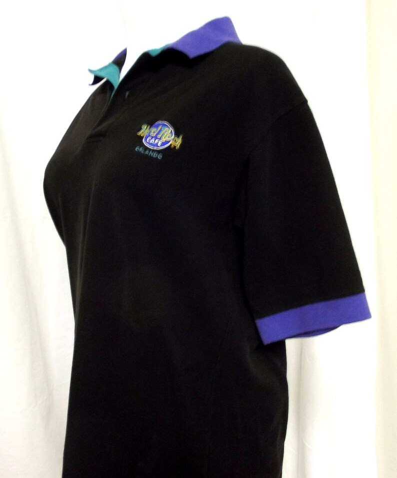 d7426a63 Vintage Hard Rock Cafe Orlando Polo Shirt Black purple | Etsy